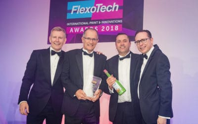 Leading Edge: Proud winners at the 2018 Flexotech awards.